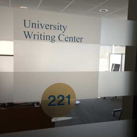 Writing Center Door