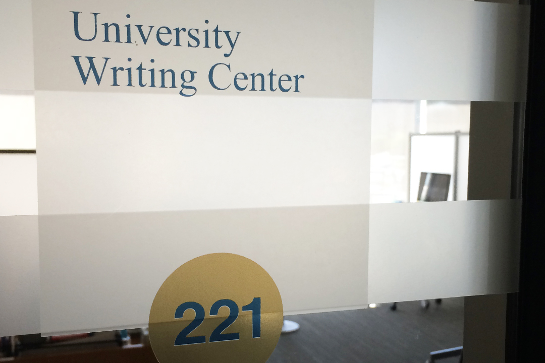 University Writing Center Door